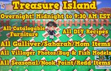 Animal Crossing New Horizons 🔥 Overnight 9 Hours! 🔥 Loot Treasure Island! 🔥