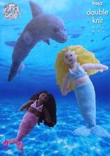 KNITTING PATTERN Mermaid & Dolphin Stuffed Toys DK King Cole 9063