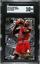 1995-96 Fleer Metal Nuts & Bolts #212 Michael Jordan Bulls HOF SGC 10 GEM MINT
