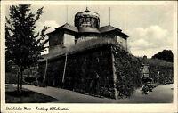 Steinhuder Meer s/w Postkarte Partie an der Festung Wilhelmstein Eingang