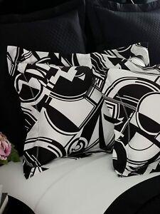 Ralph Lauren Standard Sham Ellington Black & White Art Deco Cotton MSRP $130