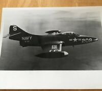 Official US Navy Photo An F-9F Panther Jet Fighter Aircraft In Flight 11/1970