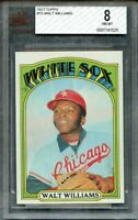 1972 topps #15 WALT WILLIAMS chicago white sox BGS BVG 8