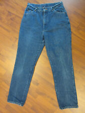 LL Bean Womans Flannel Lined Denim Mom Jeans Size 16 USA Made  #U4