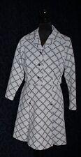 vintage dress + crop jacket RACEWEAR Crimplene s14.5 brown cream geo KENWALL