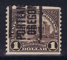 US 1922-26 $1.00 LINCOLN MEMORIAL local precancel from PORTLAND, OR.