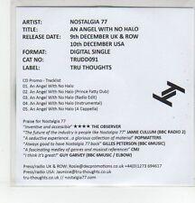 (EQ983) Nostalgia 77, An Angel With No Halo - 2013 DJ CD