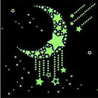 100Pcs Glow In The Dark Luminous Stars Home Wall Stickers Decal Kid Gift