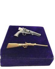 Vintage Gun Tie Clips