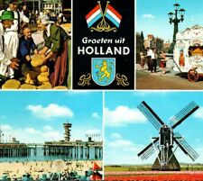 Holland Tulips Windmill Carnival Boardwalk Theater Cheese Vintage Postcard