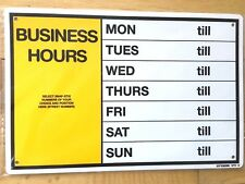 Styrox Business Opening Hours Sign 300mm x 200 RETAIL/SHOP/BUSINESS WINDOW New