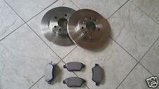 FIAT PUNTO GRANDE JTD  05-- TWO REAR SOLID BRAKE DISCS & SET OF BRAKE PADS