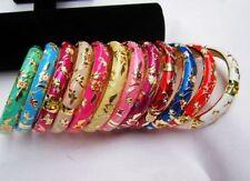 lovely Chinese Handmade Cloisonne Enamel Flower Bracelet