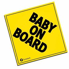 Zone Tech Baby on Board Safety Caution Bumper Car Reflective Vehicle Magnet 5x5""