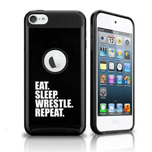 For Apple iPod Touch 5th 6th Shockproof Hard Case Eat Sleep Wrestle Repeat