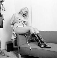 1960s Negative-sexy blonde pinup girl Carole Edwards