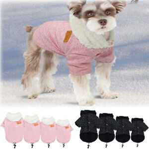 Pets Dog Puppy Warme Winter Hoodie Chihuahua Fleece Coat Jacket Clothes Apparels