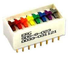 ERG COMPONENTS, SDS-8-023, SWITCH, DIL, ST, UK stock. New in pack. 4 switches.