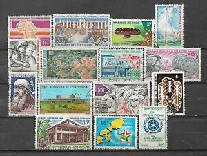 IVORY COAST, 15 VARIOUS,  USED