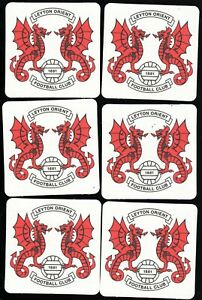LEYTON ORIENT F.C. Official Crested Beer Mats / Coasters FREE POST UK