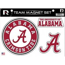 UNIVERSITY OF ALABAMA CRIMSON TIDE TEAM COLLEGE SPORTS NCAA MAGNET SET OF 3