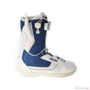 Men's Snowboard Boots -60% off RRP big feet UK 14 Deeluxe Shuffle white/blue