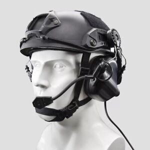 OPSMEN Tactical Earmor M32H MOD3 Helmet Mount Communication Headset - BLACK -