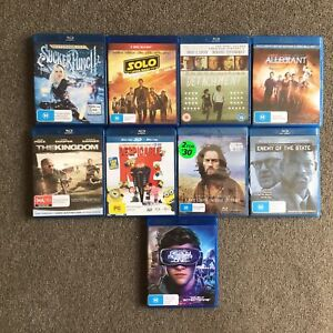 9 Various Blu-Ray DVDs #404