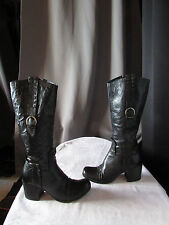 bottes cuir noir made in italy 38