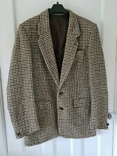 """MENS HARRIS TWEED DUNN & CO BROWN HOUNDSTOOTH JACKET 40"""" CHEST"""