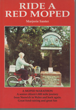 MARJORIE SANTER RIDE A RED MOPED NORWICH TO WALES FIRST EDITION PAPERBACK 1997