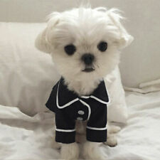 US Pet Dog Cat Pajamas Polo-Style Jumpsuit Clothes For Small Medium Pet Apparel