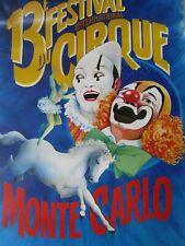 Affiche Cirque /  13ème Festival international du cirque /  MONTE-CARLO 1988