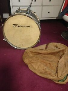 A blue 1950's Trixon bass / kick drum and case