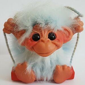 "Rare Rauls Happy Gang Vintage Baby Blue Swinging Monkey 3"". Gonk Boxed"