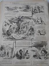 1876 PELE MELE de dessins La Marmitomanie Les Marmites Gervais