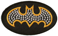 Ecusson patche Batman logo thermocollant patch cinema brodé