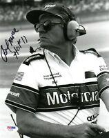 BUD MOORE SIGNED AUTOGRAPHED 8x10 PHOTO + HOF 11 NASCAR LEGEND PSA/DNA