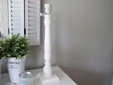 großer LAMPENFUß Holz  * shabby weiß  * Höhe ca. 46 cm  Landhaus