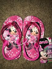 fe1fe1f34 NEW Toddler Girls Size 5 6 Small Pink MINNIE MOUSE Shoe Flip Flop Sandal  DISNEY