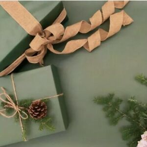 2-40M Forest Green KRAFT 100% Recycled Recyclable Christmas Gift Wrapping Paper