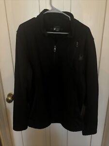 Spyder Quarter Zip Pullover Black Sweatshirt Men's Large