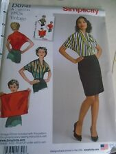 0741 REEDITION PATRON SIMPLICITY RETRO 1950 BLOUSE CROISEE TAILLE S A L