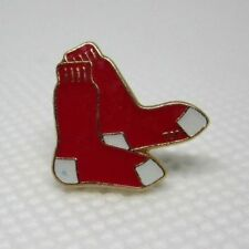 Official Boston Red Sox Pierced Red Socks Earrings Huggies Red White Gold Tone