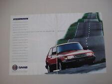 advertising Pubblicità 1992 SAAB 900 S EP