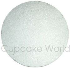 "NEW 15"" SILVER ROUND MASONITE 5mm THICK WOOD WOODEN CAKE BOARD BASE FREE POSTAGE"