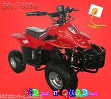 Quad électrique pour enfant 6 à 12 ans DINOSAUR PRO - 36V 500w - Rouge -