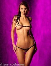 Sexy Cheetah Micro Bikini Naughty Hot Stripper Dancer Adult Costume 6 8 10 12