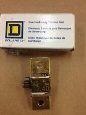 Square D B2.40 Overload Relay Thermal Unit
