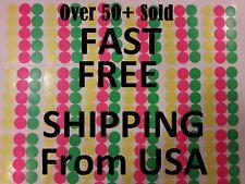 315 Yard Garage Rummage Sale Price Tags Blank Sticker 3 Neon Colors Label 34